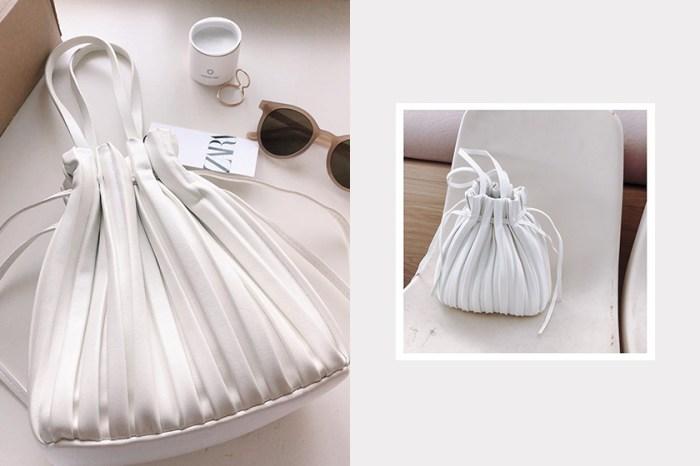 默默賣到翻掉:Zara 百摺水桶袋攻佔 IG,親民價格買到高質感設計!