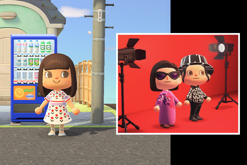 valentino Marc Jacobs drops custom collection animal crossing fans