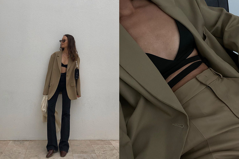bra tops outfit 2020ss