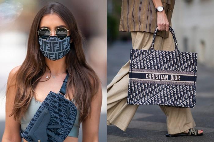 口罩亦有高端時尚之分!藝術家用一把剪刀與一隻襪自製 Dior Oblique 圖案口罩