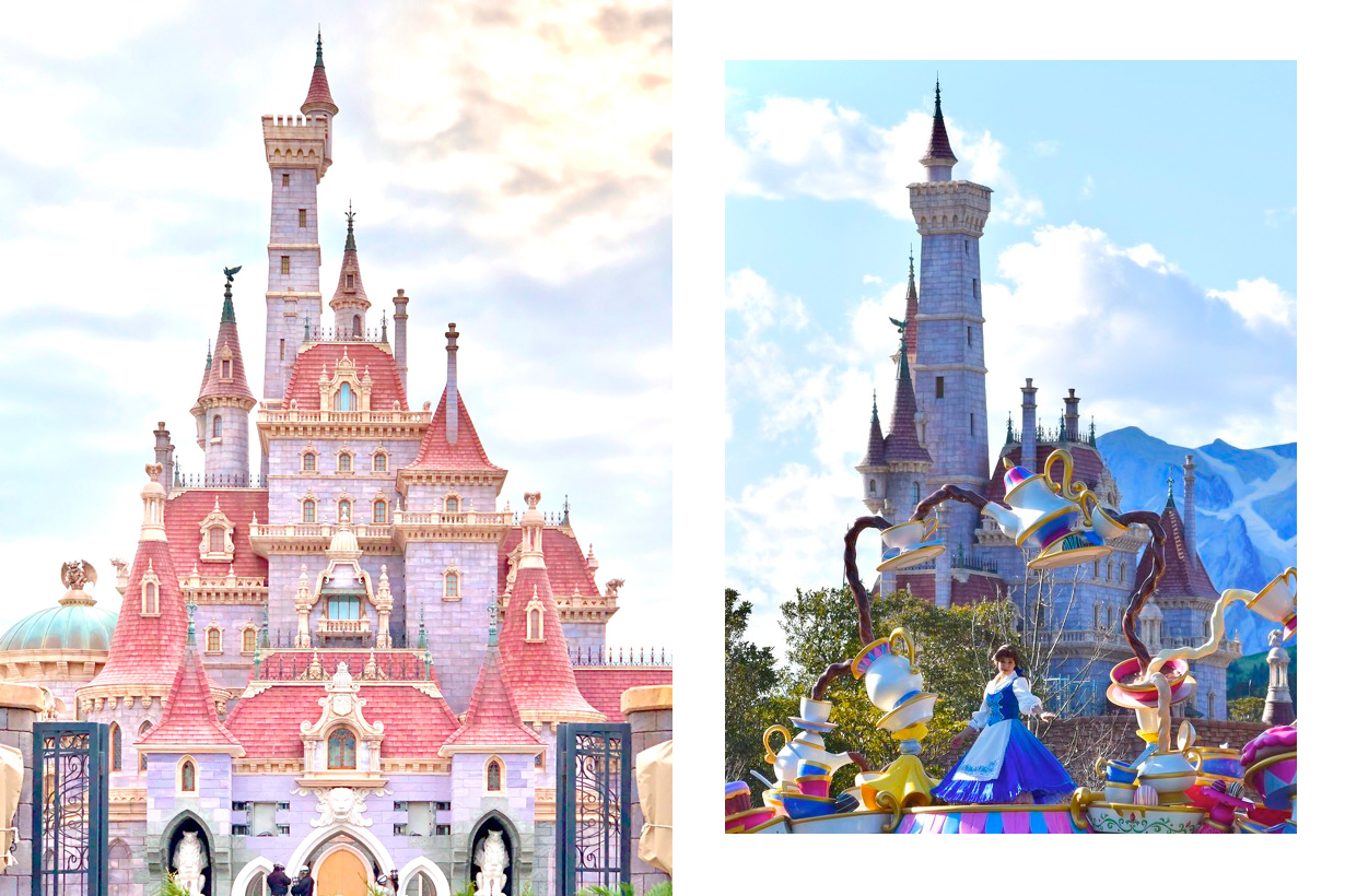 tokyo disneyland beauty and the beast castle open