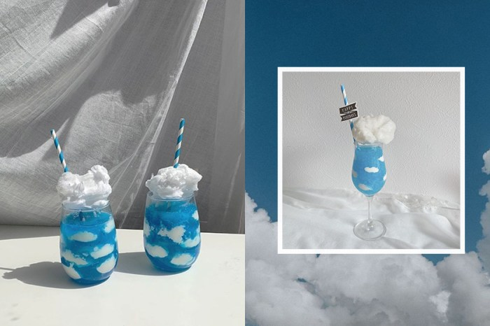 超夢幻飲品:正風靡日本女生的「藍天雲朵杯」,5 步驟在家就能完成!