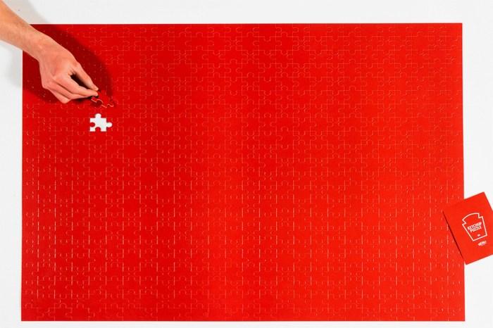 亨氏推出 570 片拼圖:每片都是茄汁紅,只留給實力挑戰者!