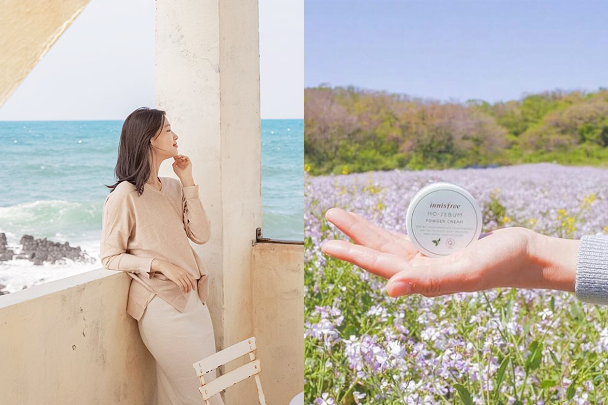 Cosme Hong Kong Cosmetics Best sellers Makeup Innisfree No-Sebum Mineral Powder Korean Cosmetics Makeup Jeju Summer Makeup Essentials korean girls