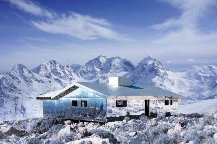 如夢似幻的場景:走入藝術家 Doug Aitken 在白雪之中打造的鏡面小屋