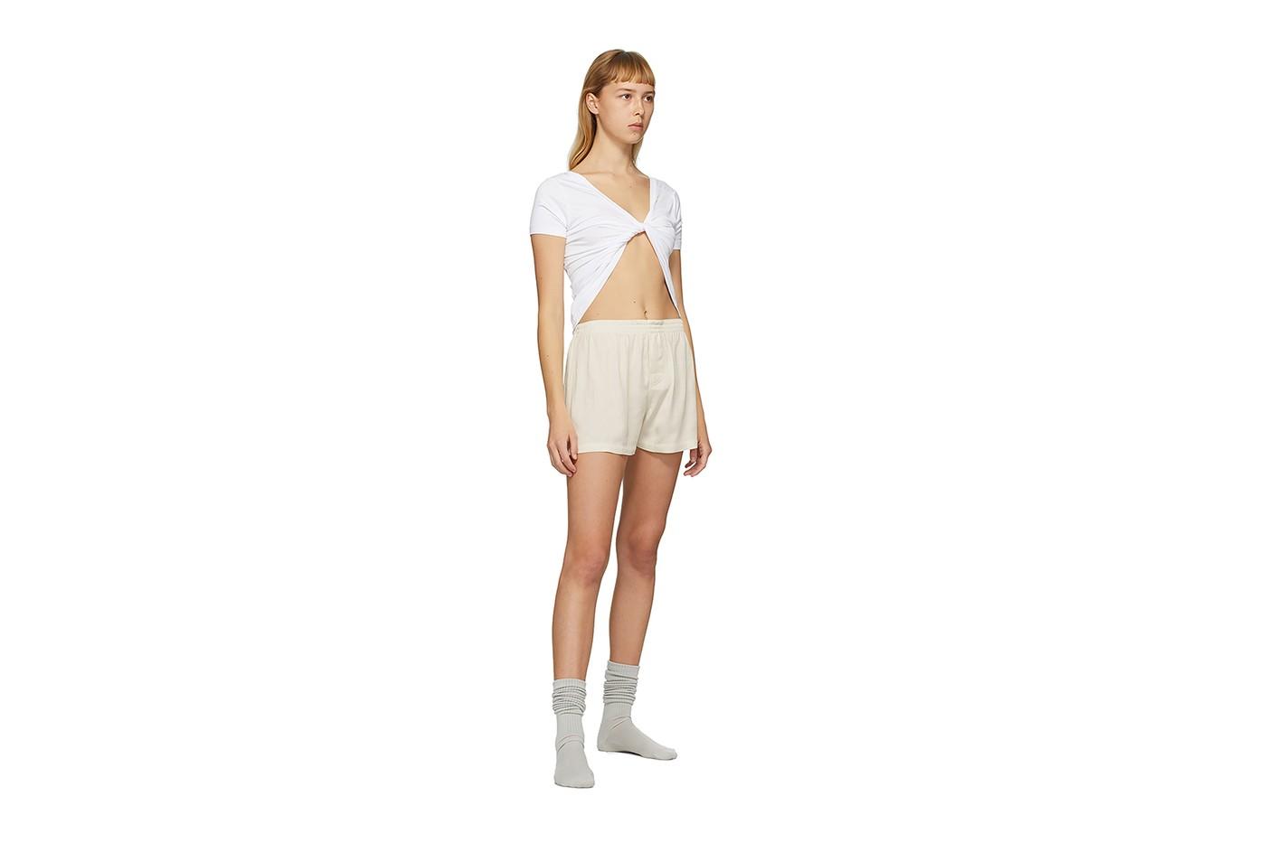 jacquemus loungewear capsule collection shirt bra shorts ssense online release