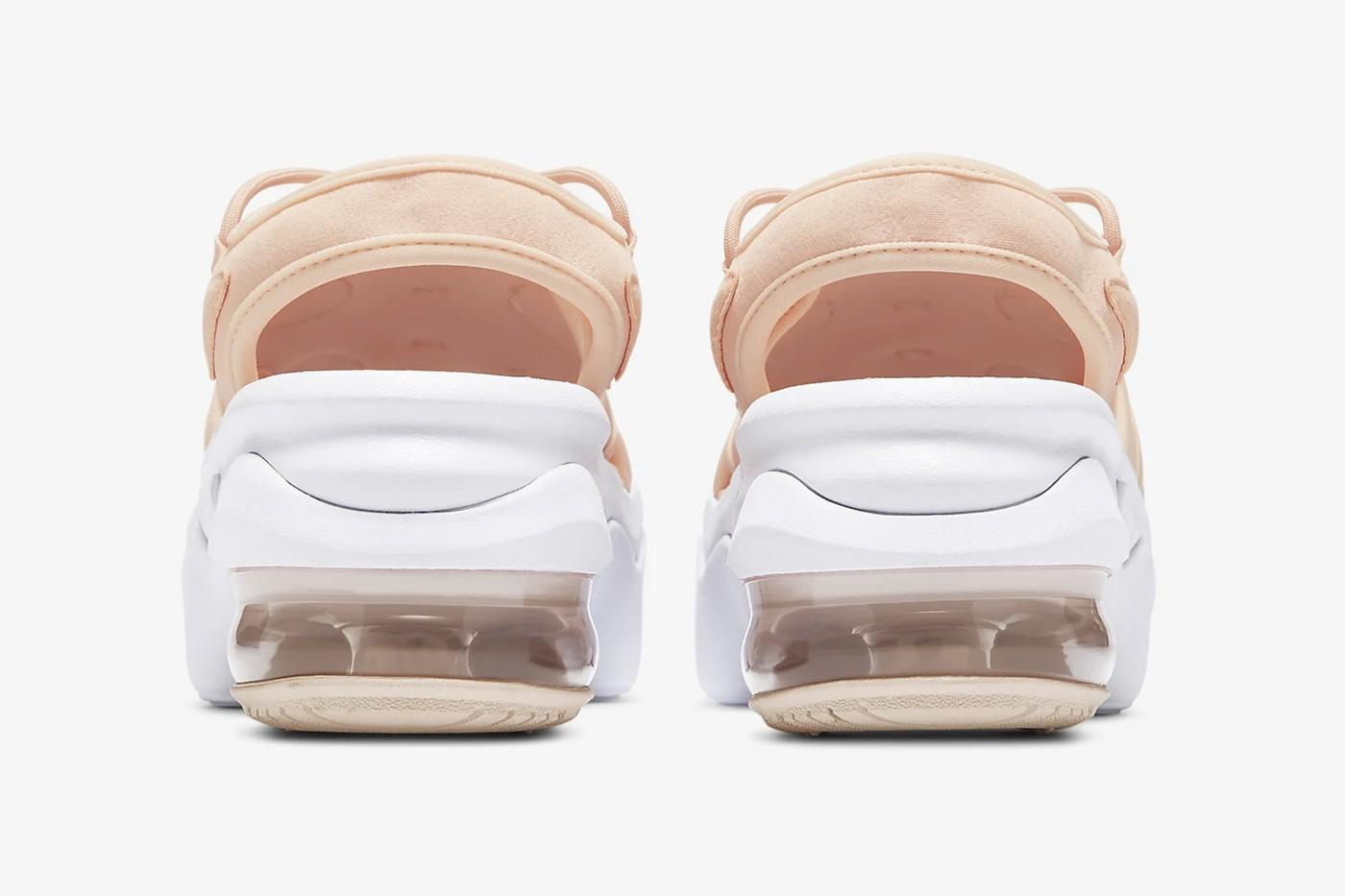 nike air max koko chunky sandals platform pink coral colorway release