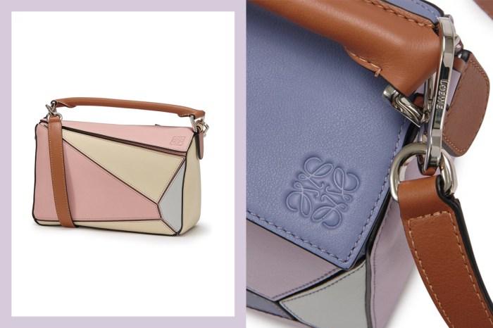 Loewe 這款紅遍街頭的 It Bag,新上架兩款粉調拼色令人一眼愛上!
