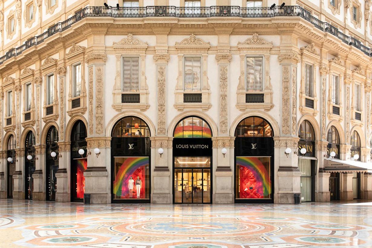 Louis Vuitton Store Windows Worldwide Get Vibrant Rainbow Designs