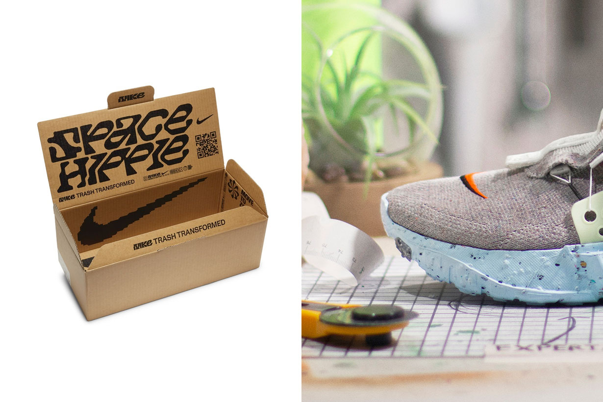 nike space hippie trash transformed sneakers