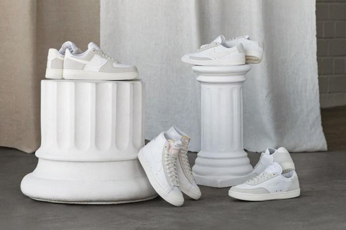 極簡主義的純色質感:Nike 將一系列經典鞋款換上了迷人的純白樣貌!