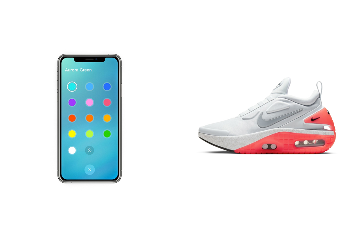 nike Adapt Auto Max air change colors app future