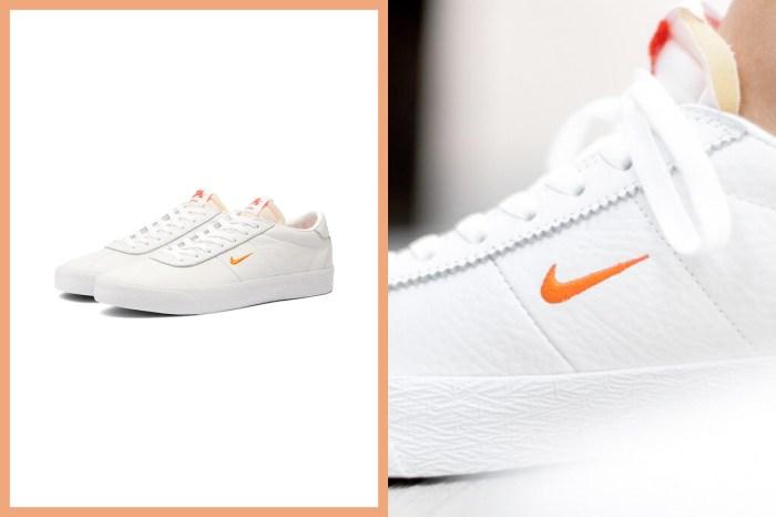 被縮小燈照到的 Swoosh!Nike 這雙純白皮革波鞋,不易撞款又可愛度滿分!