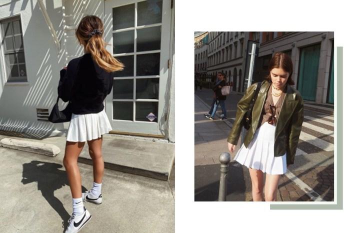 清爽得來又能遮大腿肉,難怪潮流女生都迷上這款學生風短裙!