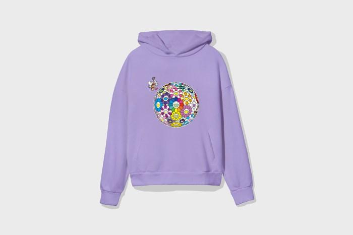 村上隆和服飾品牌 Pangaia 推出聯名系列,花朵旁的小蜜蜂究竟代表什麼?