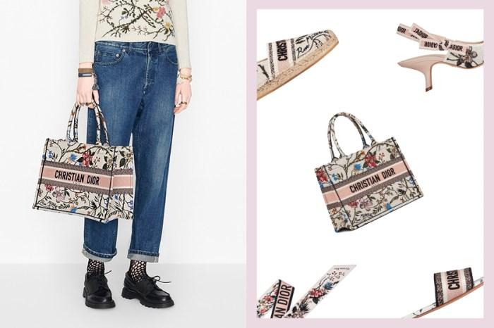 襯出時髦:喜歡穿單色系的妳,Dior 復古花配件絕對是本季加分重點!