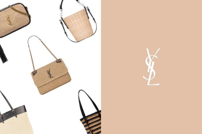 夏天怎能少了一只?屬於個性女生的渡假風,Saint Laurent 推出琳瑯滿目的草編手袋!