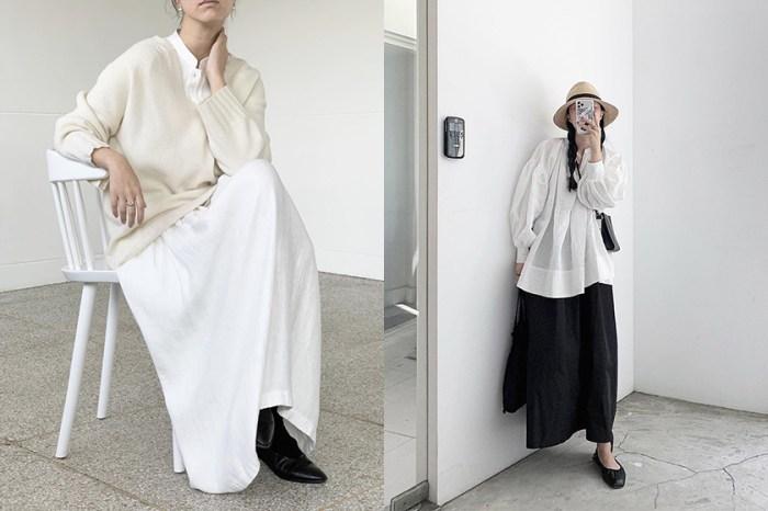 偷師這個韓國女生穿搭:只用黑白極簡色調,卻能穿出舒適又時髦的風格!