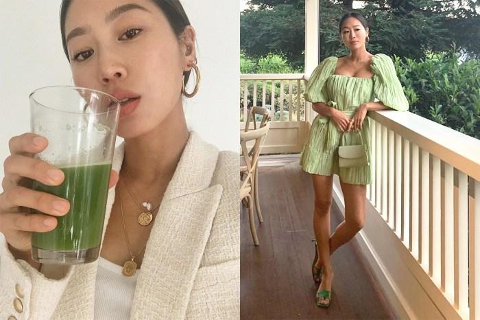 讓時尚博主 Aimee Song 著迷的這款蔬菜汁,是否她維持身材的秘密?