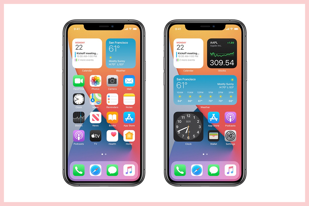 iphone ios14 widgets app library home screen