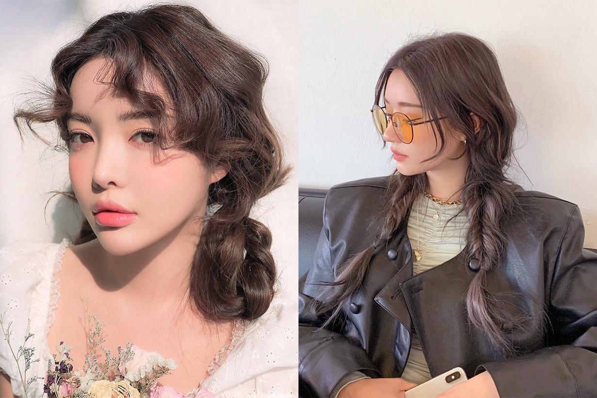 Braiding Hairstyles Double Hair Bun Half Updo Hairstyles Trend Hairstyles Tutorial Hair Styling Tips Korean Girls