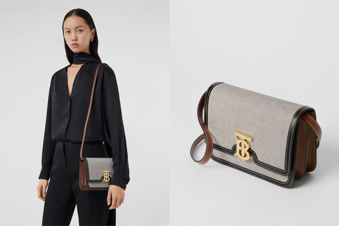 Burberry 的灰調帆布 TB Bag,完全是為低調又重視質感的女生而設!