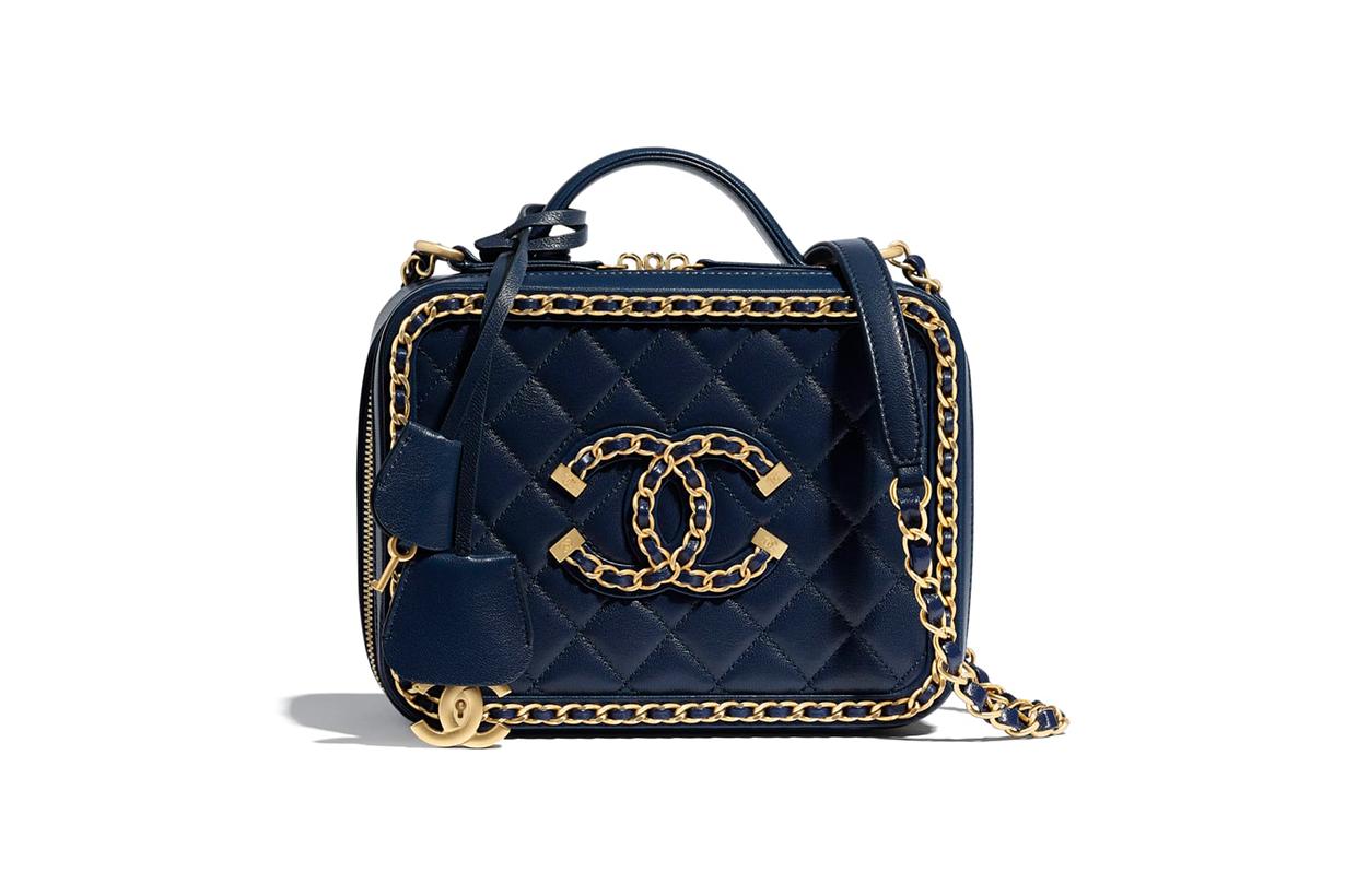 Chanel Spring-Summer 2020 Navy Blue Vanity Case