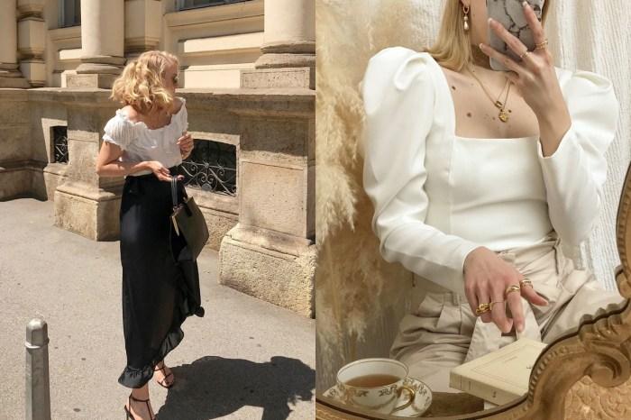 將米、白、黑穿出古典優雅的風格,這位克羅埃西雅女生的飾品細節也會讓你陶醉!