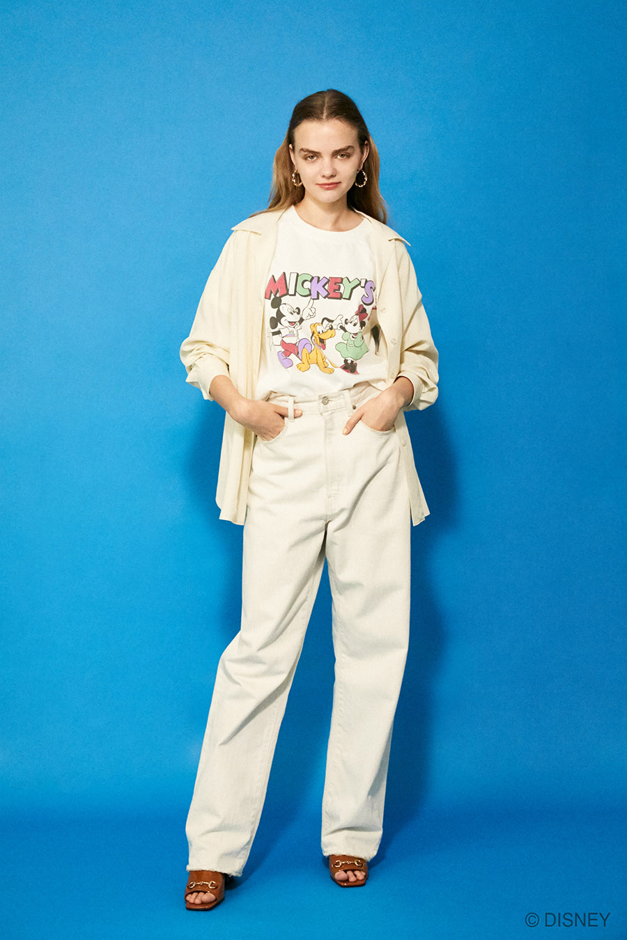moussy disney mickey minnie retro collabration casual street style