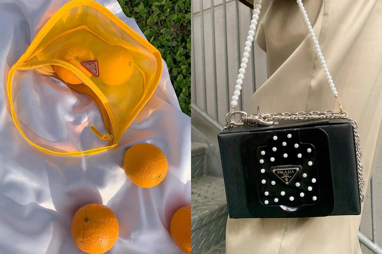 prada dior nike DIY bag accessory pearl Daisuke @dimda_ japan