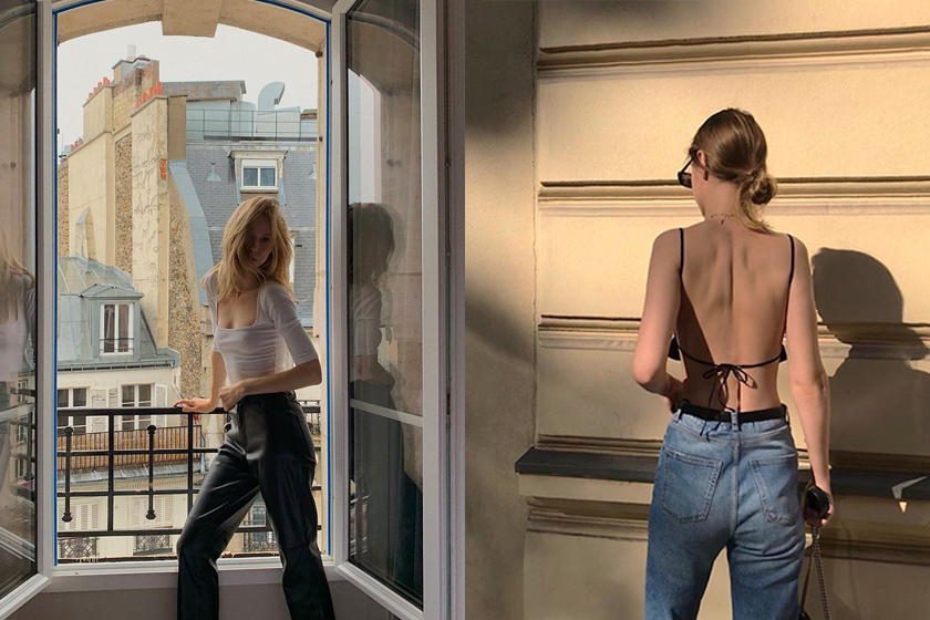 simple French girl style 2020ss