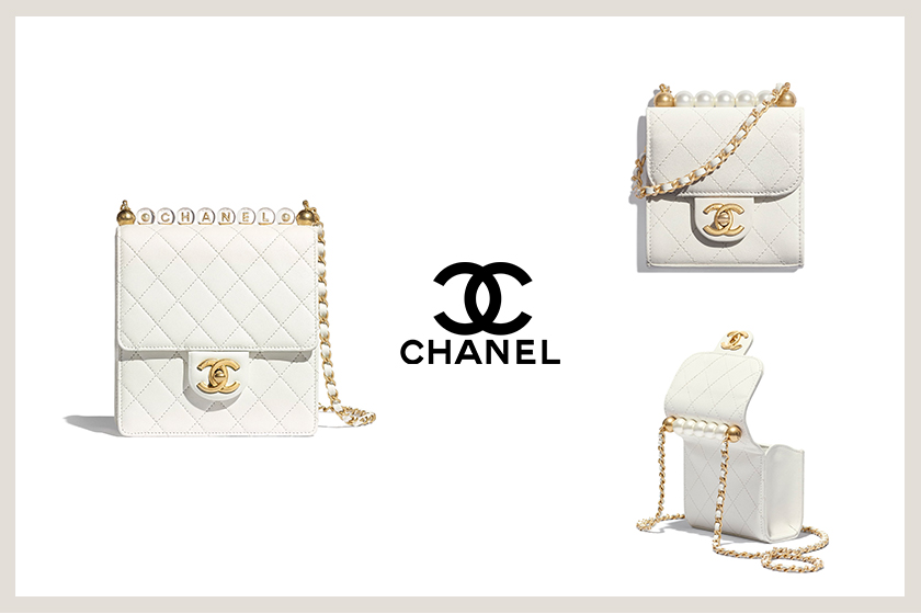 chanel clutch with chain flap bag pearls handbags 2020