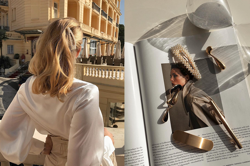 versace Burberry Prada Hair Clip accessory matches fashion online shopping 2020ss