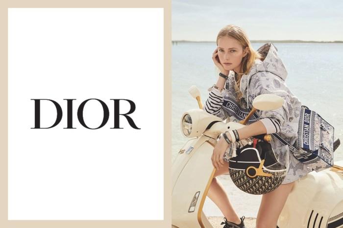 Dior 推出奶油色復古機車,還配上 Monogram 頭盔和儲物箱!