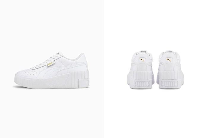 極簡白+增高 5.5 公分:Puma 這雙超厚底波鞋,打造修長美腿!