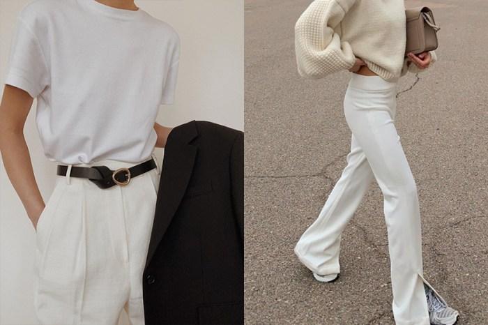 這樣穿超顯瘦:其實這個版型的白褲,更能散發率性女人味!