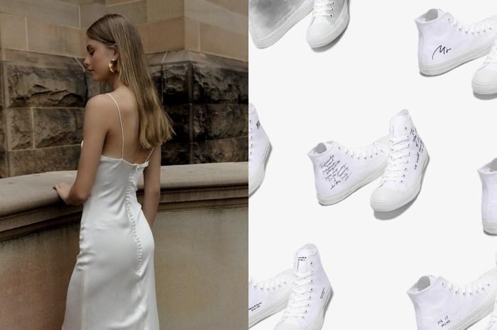 婚紗下的率性:Converse Japan 為婚禮訂製一雙全白波鞋!