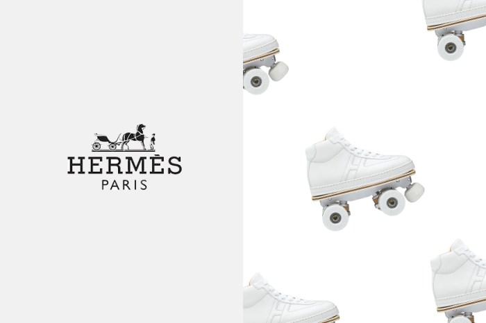 3 秒變波鞋:Hermès 這雙絕美純白溜冰鞋,售價讓人跌破眼鏡……