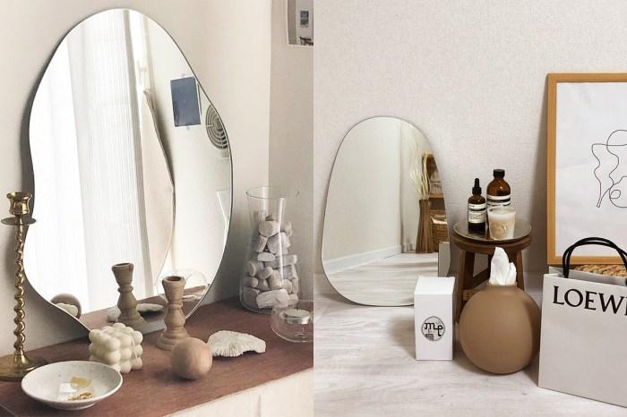 不工整之美態!日韓女生都流行在睡房添置一面這樣的鏡子!