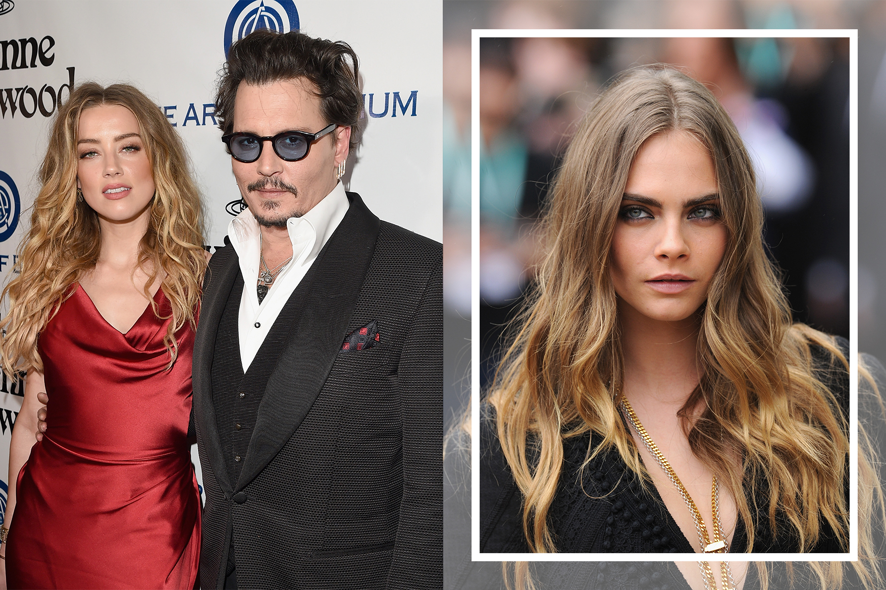 johnny depp divorce amber heard Elon Musk Cara Delevingne three-way