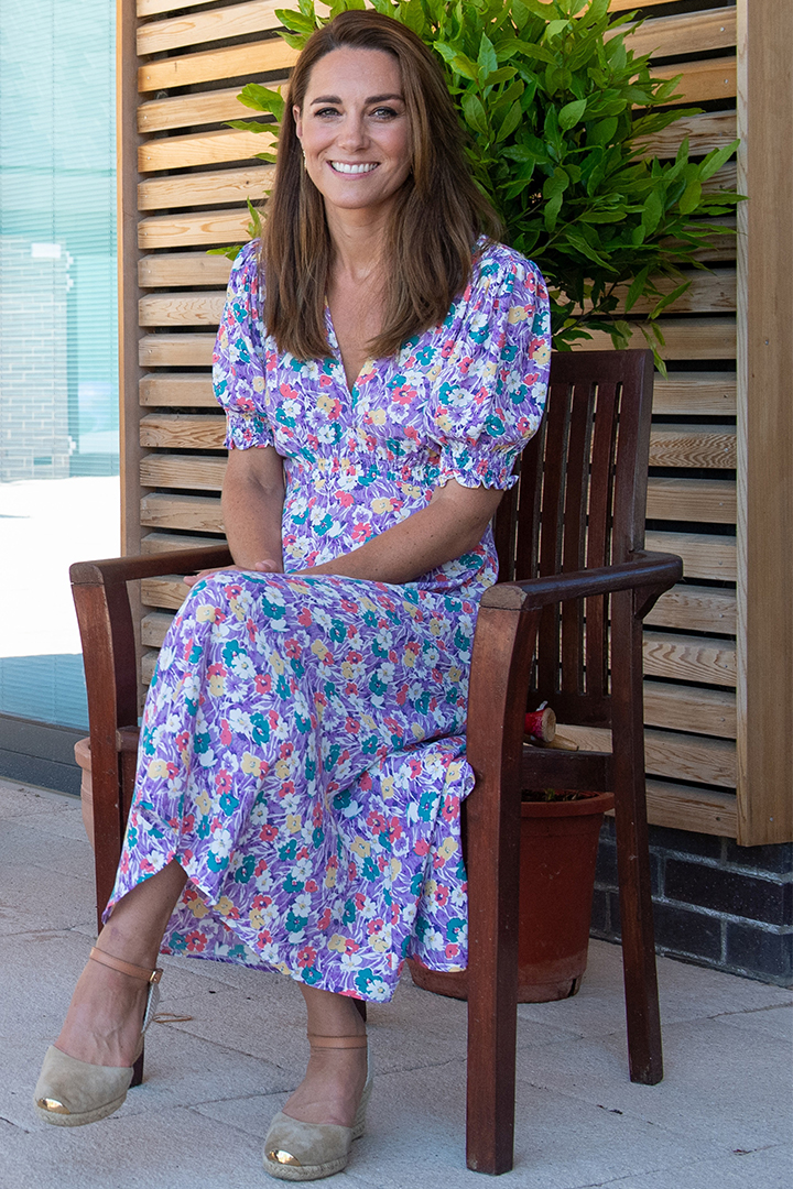 Kate Middleton Wears A New Floral Dress by Faithfull the Brand