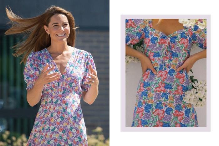 凱特王妃這次穿的碎花連身裙,來自 IG 女生熱捧的平價小眾品牌!