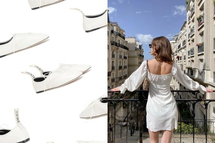 夏日的降溫系穿法:除了波鞋或涼鞋,Loewe 的小白鞋也能從細節深得你心!