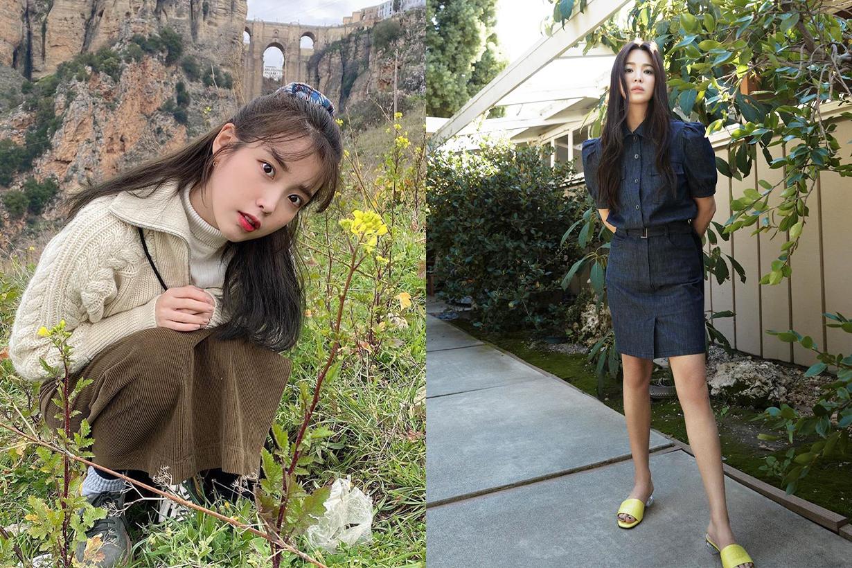 Makeup free Celebrities No Makeup Look Female Korean Celebrities Singers actresses IU Song Hye Kyo Lee Yeon Hee Red Velvet Irene Suzy Bae