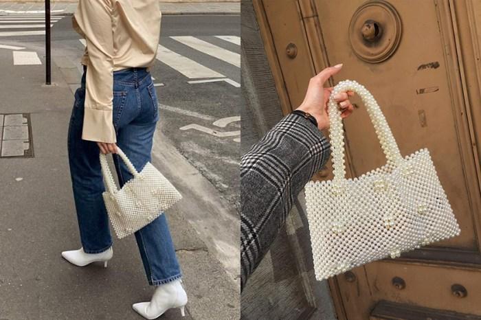 優雅奶油白:來自平價品牌的串珠包,竟然是時髦博主們的新寵兒!