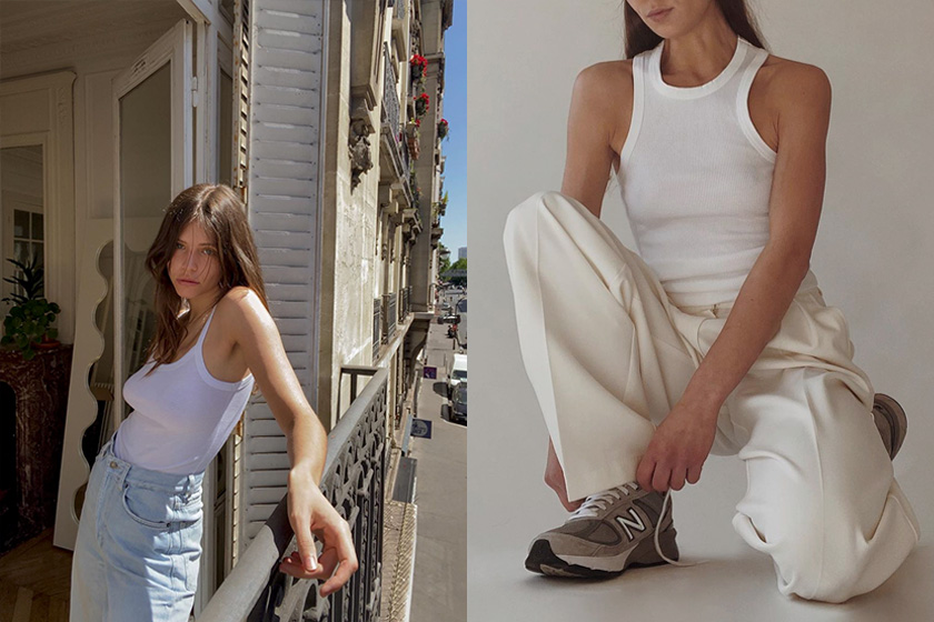 French girl Tank Top Alizée Gamberini fashion bloggers instagram fitness