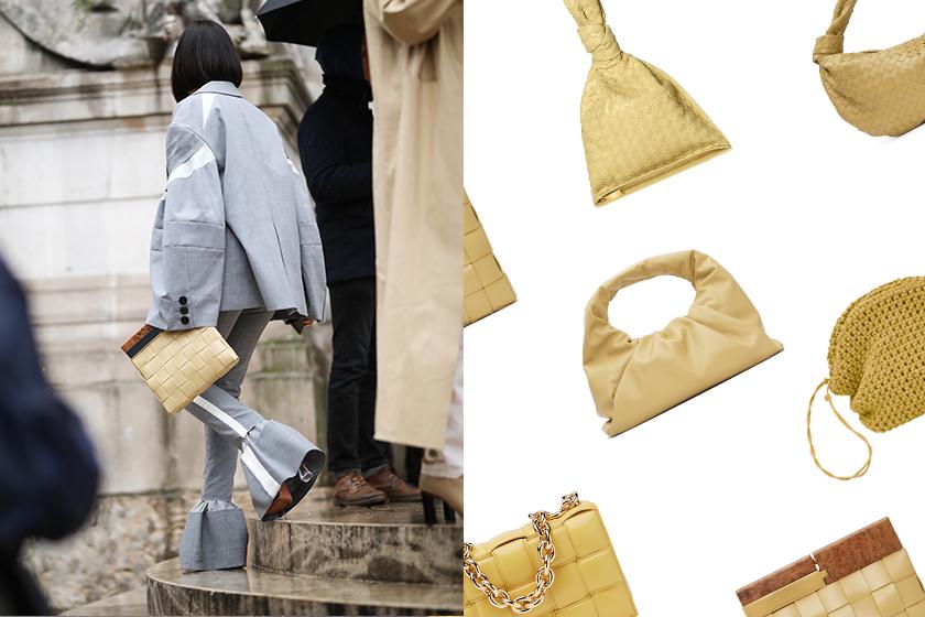 Bottega Veneta pale yellow handbags fashion trend 2020