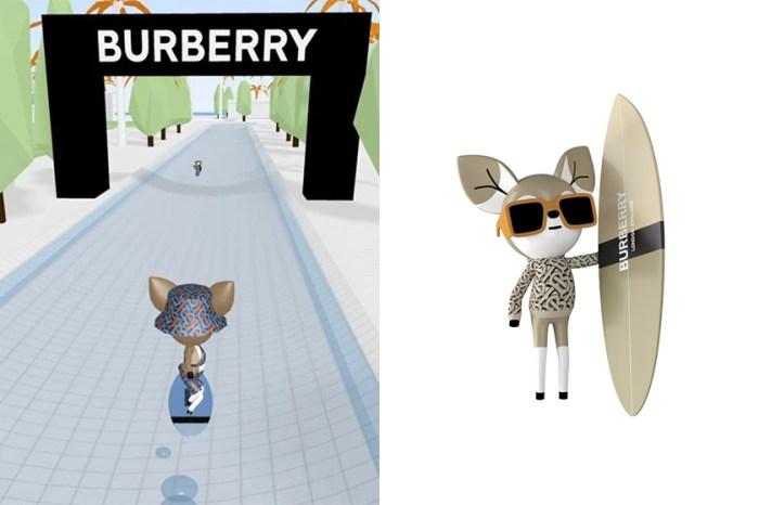 Burberry 推出可愛線上遊戲:穿上新一季的 TB Monogram 系列與小鹿一起衝浪!