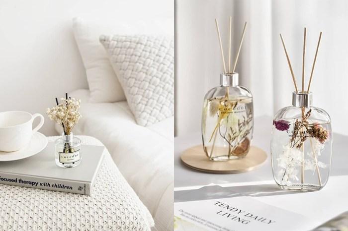 浮游在瓶身中的唯美花草:韓國女生的居家療癒裝飾來自這個香氛品牌!