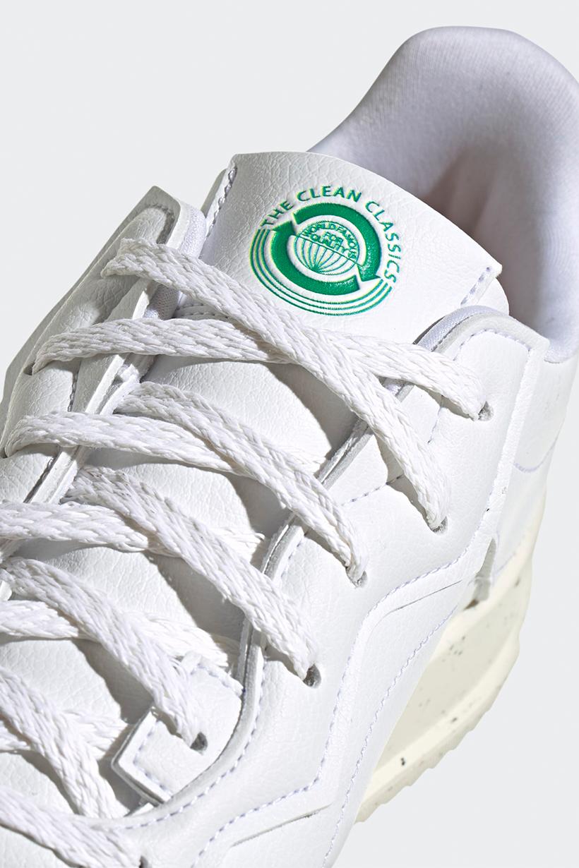 adidas originals sc premiere sustainable vegan minimal all white sneakers